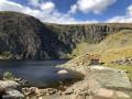 Melynllyn and Dulyn Reservoir from Llyn Eigiau parking