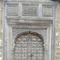 Teak door at St Joseph's Abbey