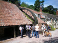 The waterwheel at Combe House Hotel