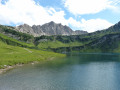 Vilsalpsee Lake, Bergaicht Wasserfall and Traualpsee